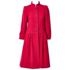 Yves Saint Laurent Rive Gauche Wool Boucle Coat