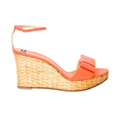 New Kate Spade Spring 2005 Collection Wicker Cabo Wedge Heels Sz 10