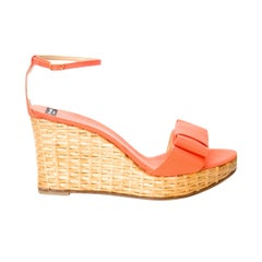 New Kate Spade Spring 2005 Collection Wicker Cabo Wedge Heels Sz 9