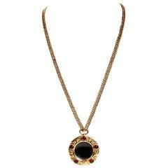 Chanel Gripoix Monocle Vintage Necklace- 1980's