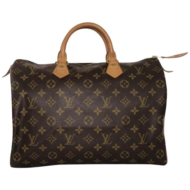 Louis Vuitton Monogram Speedy 35 Satchel Handbag
