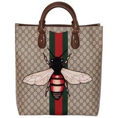 Gucci Bee Embroided GG Supreme Canvas Tote