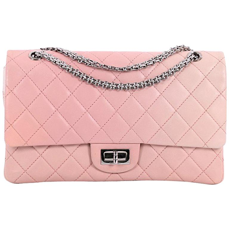 Chanel Reissue 2.55 Handbag Quilted Ombre Lambskin 227 For Sale