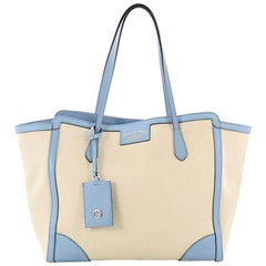 Gucci Swing Tote Canvas and Leather Mediu