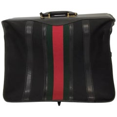 Gucci Vintage Garment Suit Case Red/Green Web