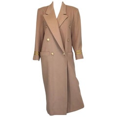 Christian Dior Vintage Military Style Maxi Coat