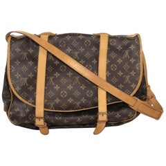 Louis Vuitton Monogram Saumur 43 Messenger Handbag