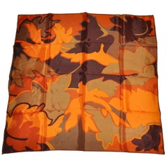 """Multicolor of Golden Browns """"Falling Leaves"""" Scarf"""
