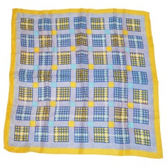 """Summer Time Plaids"" with Yellow Borders Scarf"