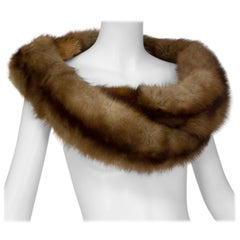 Braided Cognac Ombré Fox Shoulder Cowl, 1950s