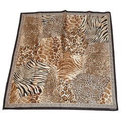 "Adrienne Landau Multi Shades of Browns & Cream ""Lions, Tigers and Leopard"" Scarf"