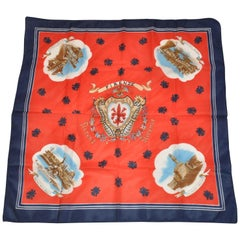 "Multi-Color with Navy Borders ""Florence Wonderful Scenes"" Scarf"