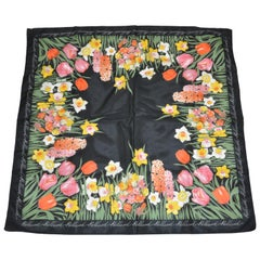 "Holland ""Fields of Flowers"" with Black Borders Scarf"