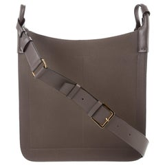 Tom Ford NEW Leather Carryall Men's Women's Travel Shoulder Crossbody Flap Bag
