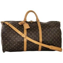 Louis Vuitton Monogram Keepall Bandoliere 60 Travel Duffel Handbag