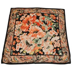 "Echo Huge Majestic Bold ""Burst of Autumn Florals"" with Black Borders Scarf"