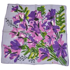 "Vera Bold Wonderfully Shades of Violets & Lavender ""Wild Florals"" Scarf"