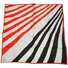 Vera Bold Patriotic Red White & Blue Multi-Striped Scarf