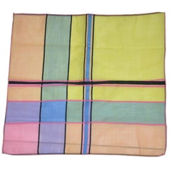 Multi-Colors of Abstract Swiss Cotton with Micro-Finished Edges Handkerchief