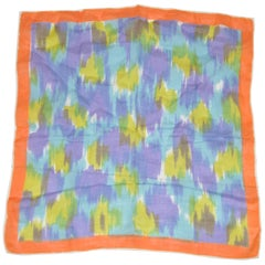 "Festival Multi-Color ""Brush Strokes"" Cotton Hand-Rolled Edges Handkerchief"