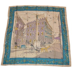 """Ferragamo by Creoxiohp A. Monnini """"Limited Edition"""" """"Village of Shoes"""" Scarf"""