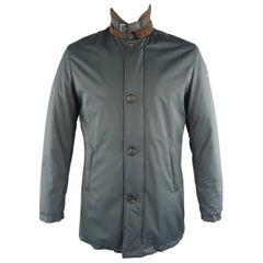 EREDI PISANO L Navy Solid Polyester Jacket