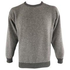 LORO PIANA Size 42 Charcoal Knitted Cashmere Sweater