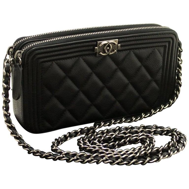8ad98fe12772 CHANEL Boy Caviar WOC Wallet On Chain W Zip Chain Shoulder Bag For Sale