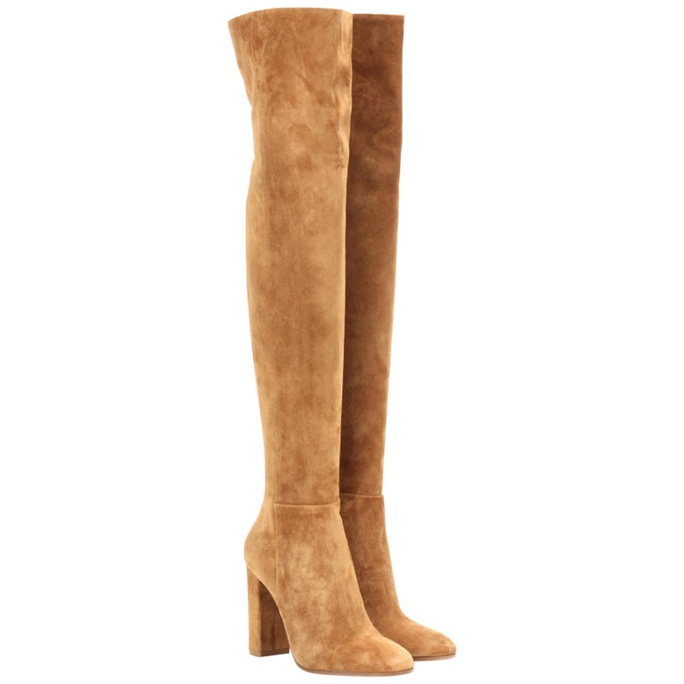 b8553b2e7 Gianvito Rossi Suede Over-The-Knee Boots at 1stdibs