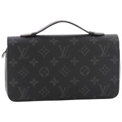 Louis Vuitton Zippy Wallet Limited Edition Monogram Eclipse Canvas XL