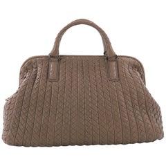 Bottega Veneta Top Handle Frame Bag Intrecciato Nappa Large