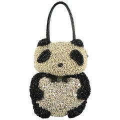 ANTEPRIMA Crochet Swarovski Crystal 3D PANDA WIREBAG Handbag