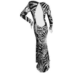 Emilio Pucci Long Evening Dress with Cut Out Back Size 44