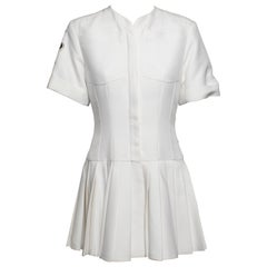 Christian Dior White Pleated Mini Dress From the 2016 Collection
