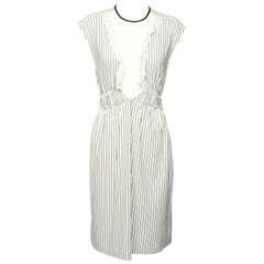 Louis Vuitton Ruffle Striped Dress