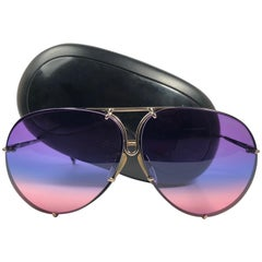 New Vintage Porsche Design By Carrera 5623 Black Rainbow Sunglasses Austria