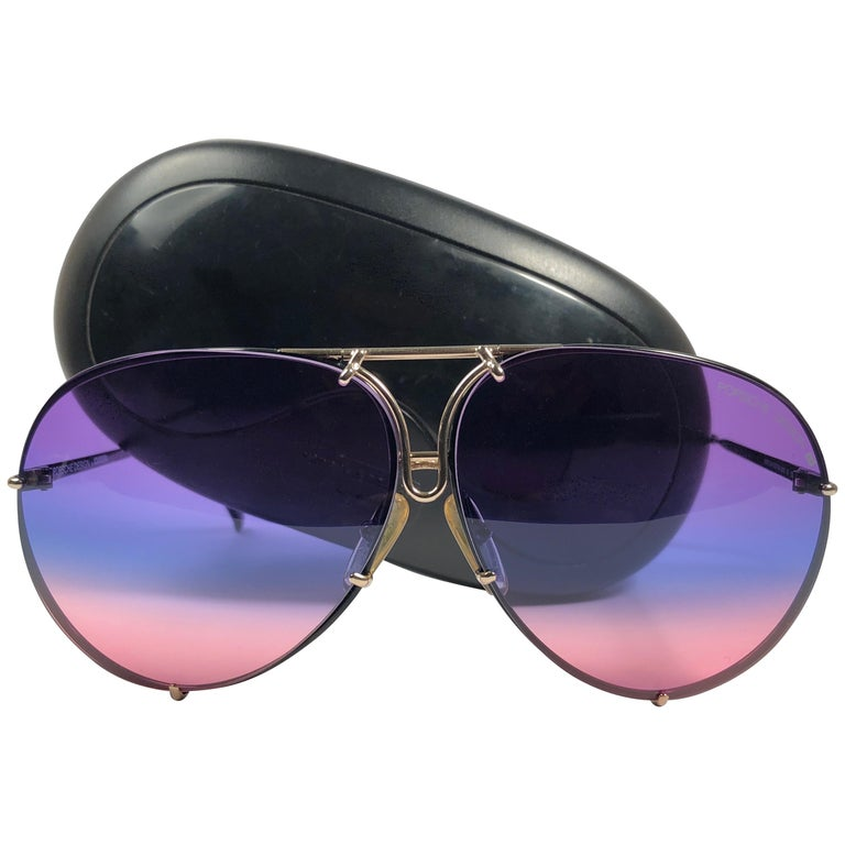 e1dc0d90c89b New Vintage Porsche Design By Carrera 5623 Black Rainbow Sunglasses Austria  For Sale