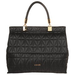 Liu Jo Top handle Satchel Nimes Quilt Nero N67135E0058-22222