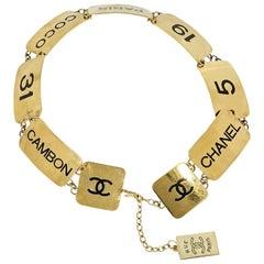 Gold Vintage Chanel Coco Plate Belt