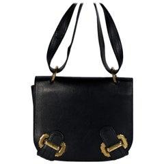 Black Salvatore Ferragamo Leather Shoulder Bag