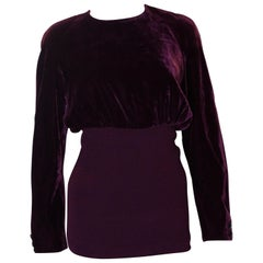 Vintage Valentino Boutique Velvet Top