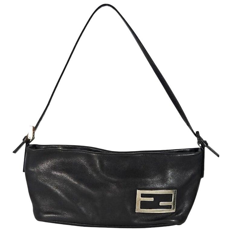 Brown Fendi Leather Baguette Shoulder Bag
