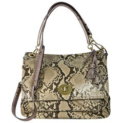 Beige Coach Python Shoulder BagProduct details:  Beige python shoulder bag by Co