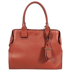 Orange Tod's Leather Shoulder Bag