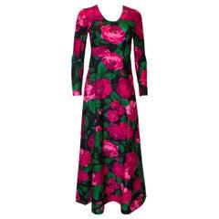 Vintage Rose Print Gown