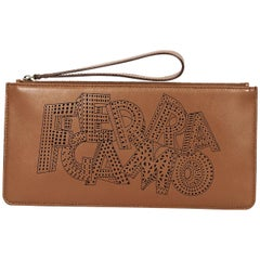 Brown Salvatore Ferragamo Wristlet Pouch