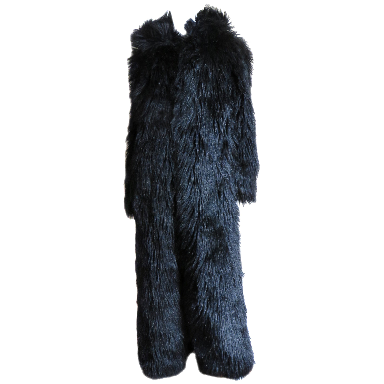 Betsey Johnson New Faux Fur Maxi Coat 1990s