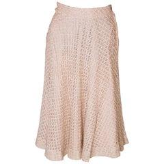 A vintage 1950s cream ribbon woven swing skirt