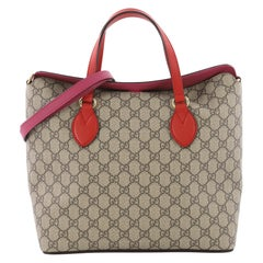 Gucci Signature Fold Over Tote GG Coated Canvas Medium
