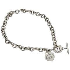 Sterling Silver Tiffany & Co. Return To Tiffany Heart Tag Choker